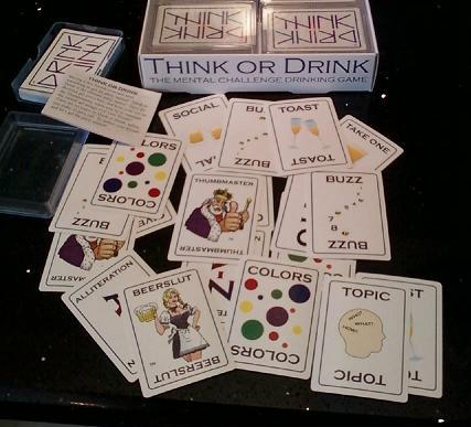 Think or Drink Party Game card samples