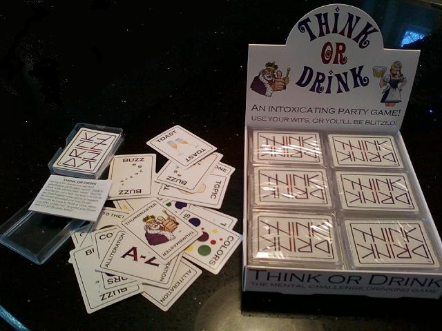 Think or Drink!  The Mental Challenge Drinking Game!